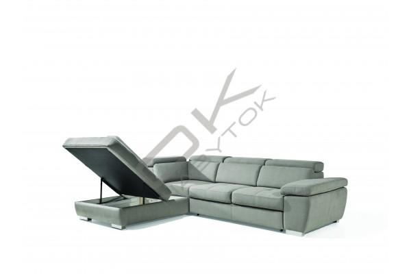 Rohová sedacia súprava ROSSO L, s funkciou rozkladania a úložným priestorom