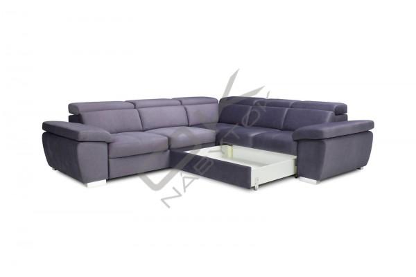 Rohová sedacia súprava ROSSO XL,s funkciou rozkladania a úložným priestorom