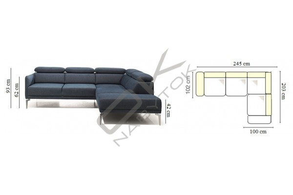 Rohová sedacia súprava SIDOLO VEĽKÝ ROH