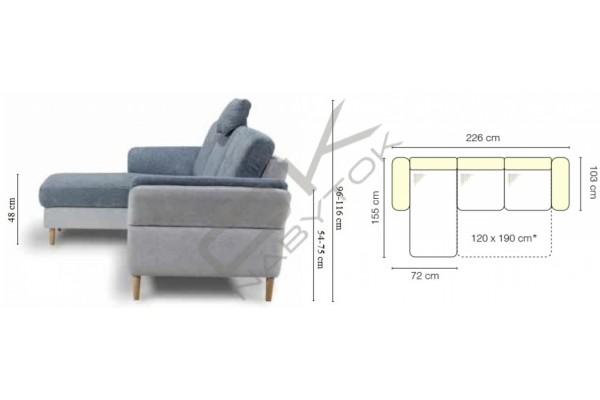 Rohová sedačka SORI - široký výber farieb