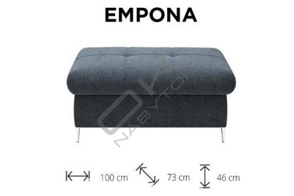 WERSAL Luxusná rozkladacia rohová sedacia súprava EMPONA - široký výber farieb