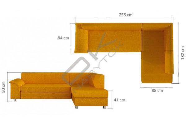 WERSAL Rozkladacia rohová sedačka BARDOT - široký výber farieb