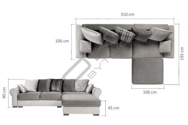 """WERSAL Univerzálna rohová sedacia súprava DELUXE CORNER """"Mega akcia"""""""