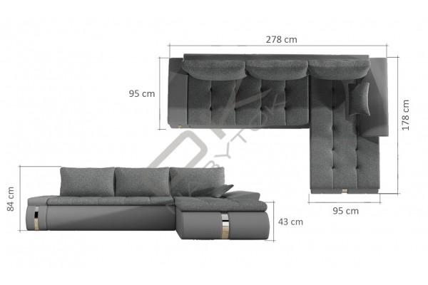 WERSAL Rozkladacia rohová sedacia súprava FADO MINI - široký výber farieb