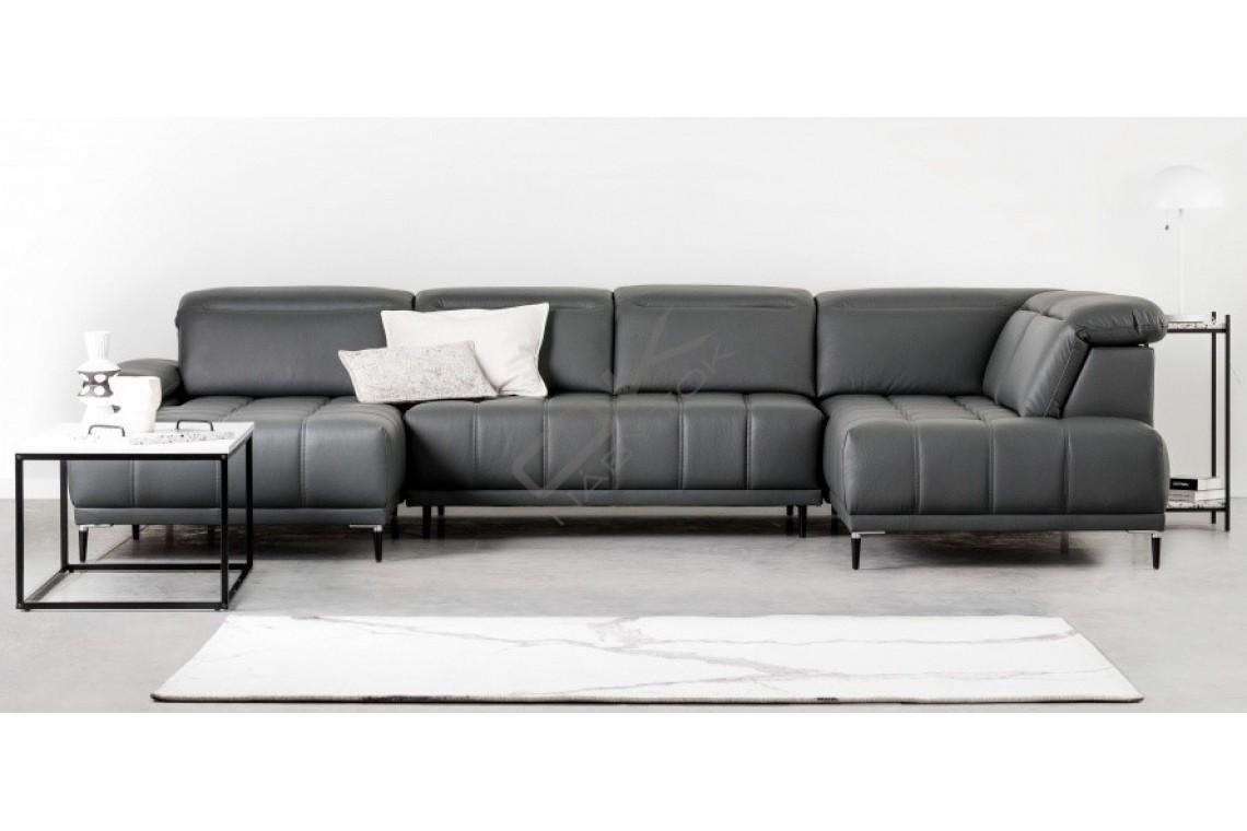 WERSAL Kožená luxusná sedacia súprava FOCUS XL - široký výber farieb