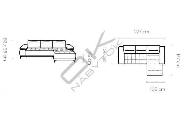 """WERSAL Luxusná rohová sedacia súprava FOCUS MINI """"Mega akcia"""""""