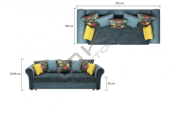 WERSAL Luxusná pohovka GUSTO - široký výber farieb