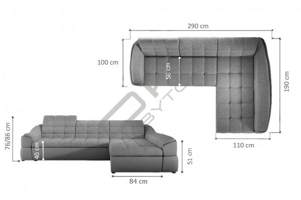 """WERSAL Rozkladacia rohová sedacia súprava INFINITY MINI """"Mega akcia"""""""