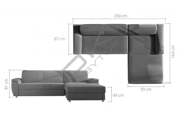 WERSAL Rozkladacia rohová sedacia súprava LIFE - široký výber farieb