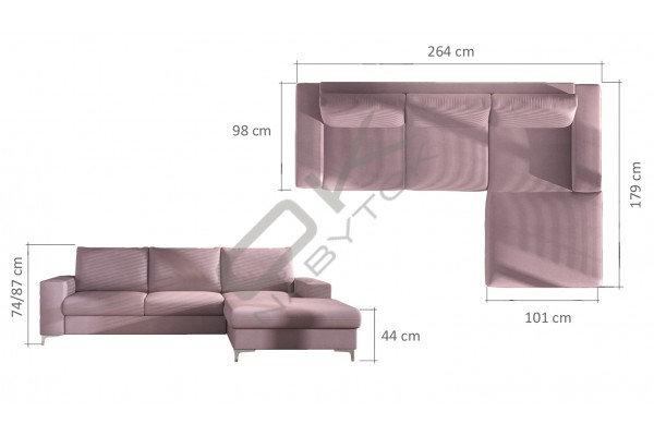 WERSAL Rohová sedacia súprava LENS - široký výber farieb