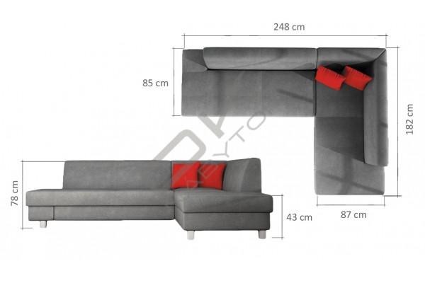 WERSAL Rozkladacia rohová sedacia súprava LOONA - široký výber farieb