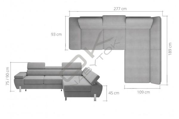 WERSAL Rozkladacia rohová sedacia súprava MOLINA MINI - široký výber farieb