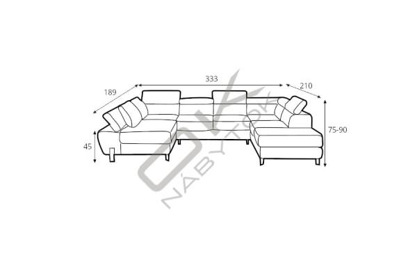 """WERSAL Rozkladacia sedacia súprava MOLINA XL """"Mega akcia"""""""