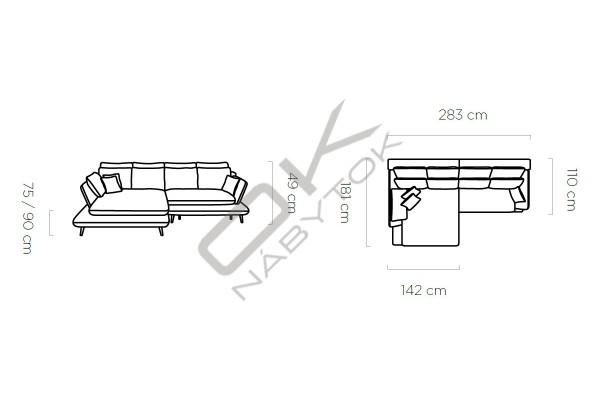 WERSAL Luxusná rozkladacia rohová sedacia súprava MONTE CORNER - široký výber farieb