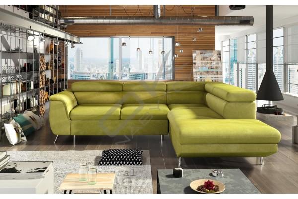 WERSAL Luxusná rozkladacia rohová sedacia súprava MORGAN  - široký výber farieb