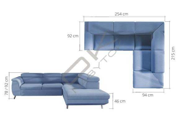 WERSAL Kožená rohová sedacia súprava MORGAN L