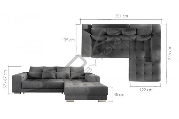 WERSAL Moderná rohová sedacia súprava NERON - široký výber farieb