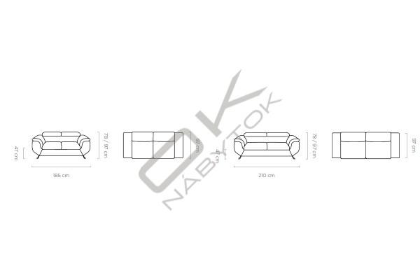 WERSAL Luxusná pohovka PHOENIX 3 - široký výber farieb