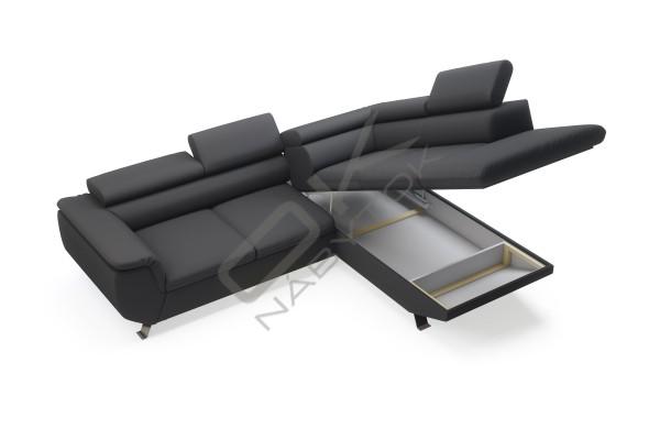 WERSAL Kožená rohová sedacia súprava PHOENIX L - široký výber farieb
