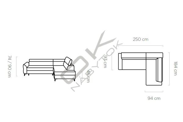 WERSAL Rozkladacia rohová sedacia súprava REMO - široký výber farieb