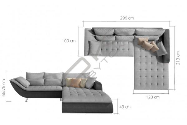 WERSAL Rohová sedacia súprava ROLLO - široký výber farieb