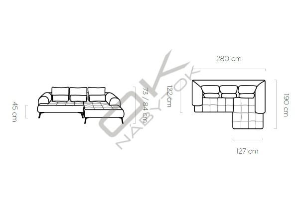 WERSAL Luxusná sedacia súprava SELEDO - široký výber farieb