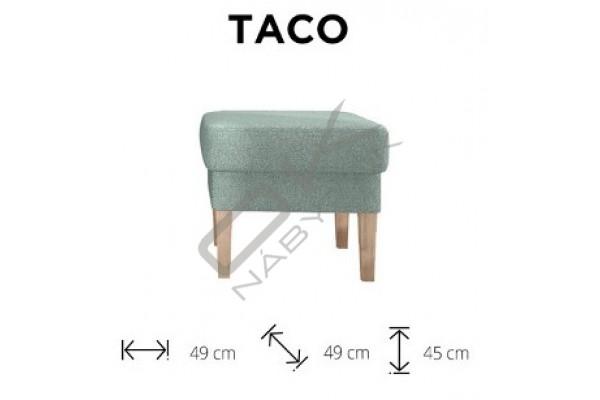 WERSAL Taburetka TACO - široký výber farieb